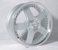 16X6.5 Starcorp Racing C5 Silver