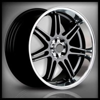 18x7.5 Lenso GF7 Shadow Chrome